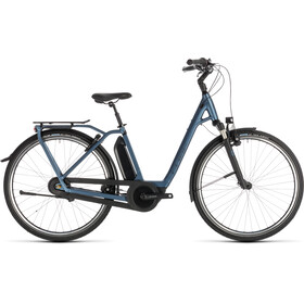 Cube Town Hybrid EXC RT 500 E-stadsfietsen Easy Entry blauw